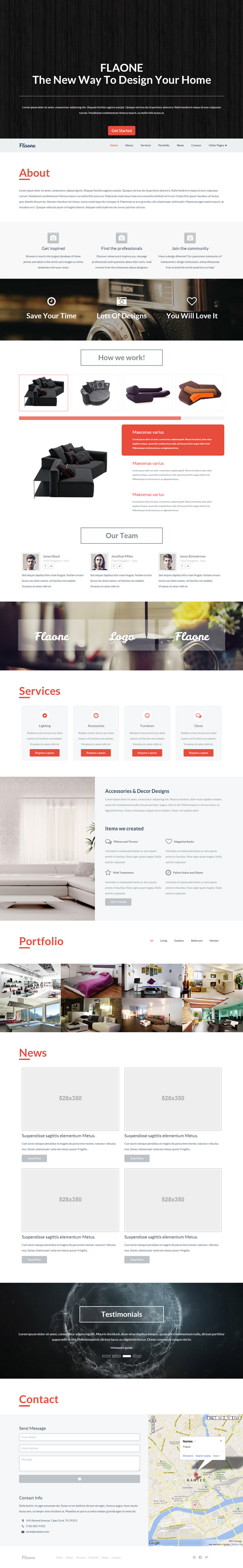 Flaone - Flat UI Pro One Page