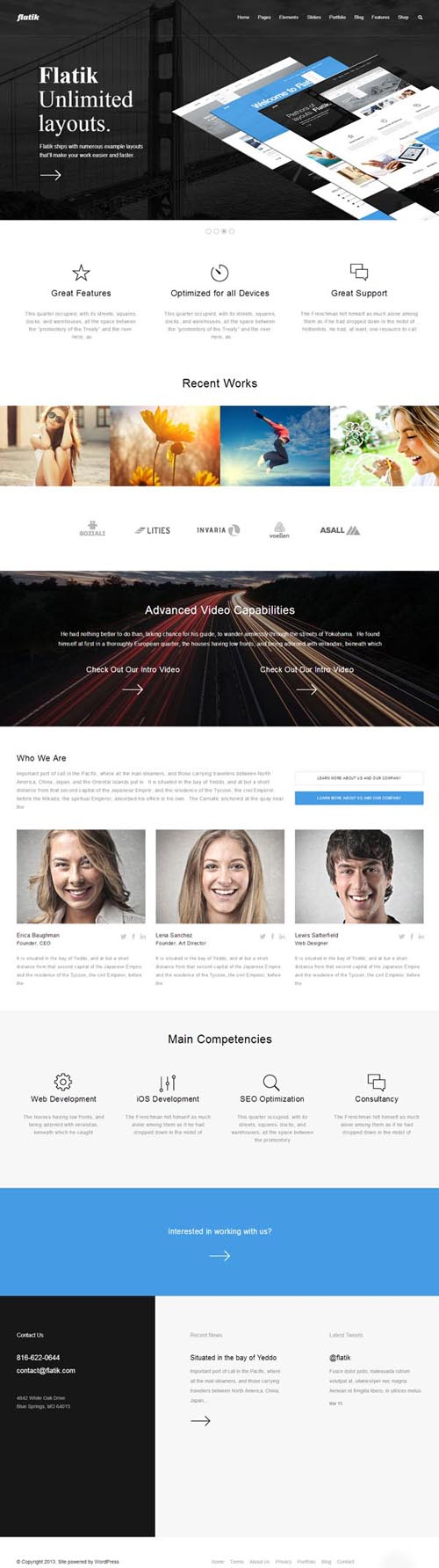 Flatik - Responsive Multi-Purpose Theme