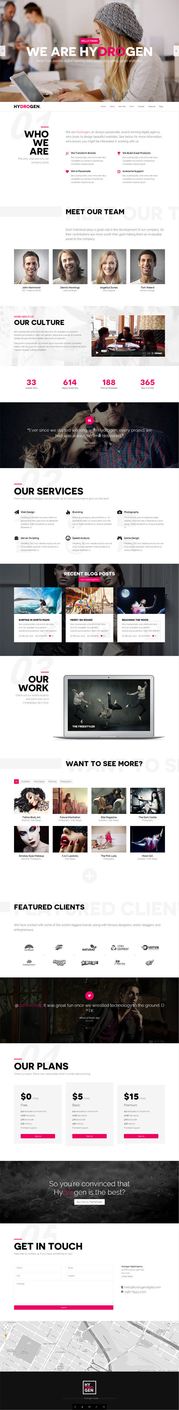 Hydrogen - Responsive HTML5 Template