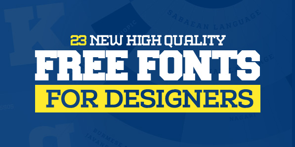 Best of 2014 - 23 New Free Fonts for Designers
