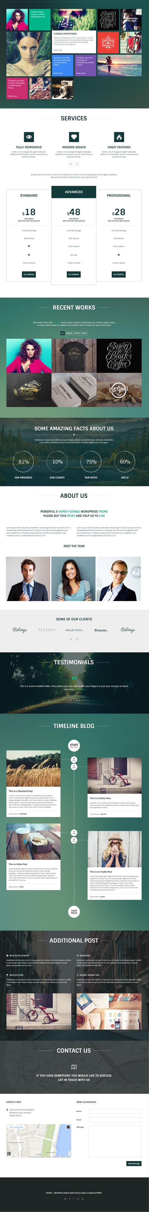 Nivan - One Page/Multi Page WordPress Theme