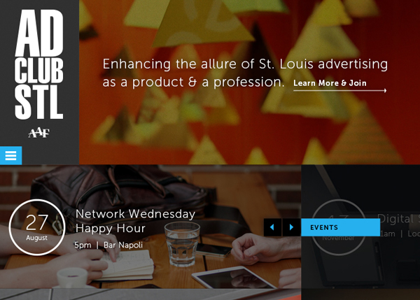 Ad Club Saint Louis #CSS3 #website #design
