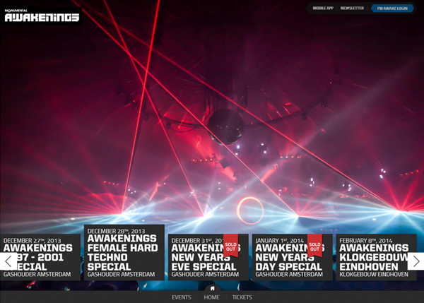 Awakenings #CSS3 #website #design