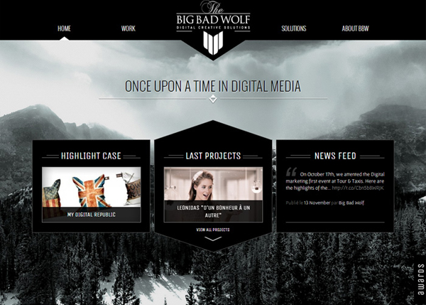 Big Bad Wolf #CSS3 #website #design