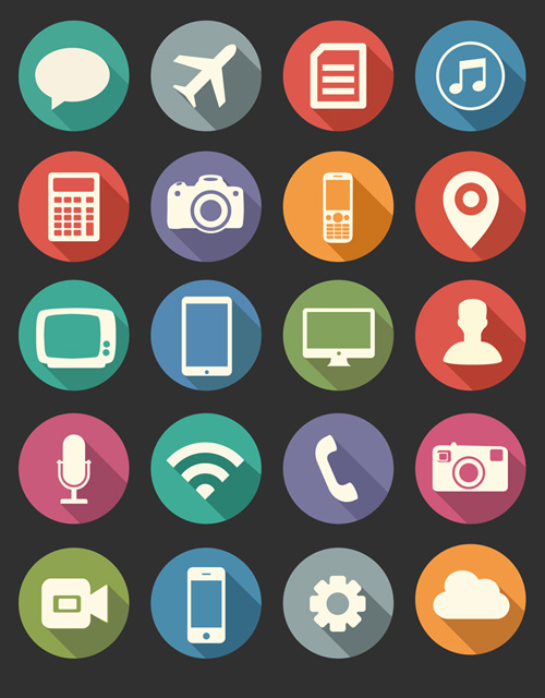 vector flat psd icons