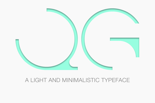 QG (Light & Minimalistic) Typefaec