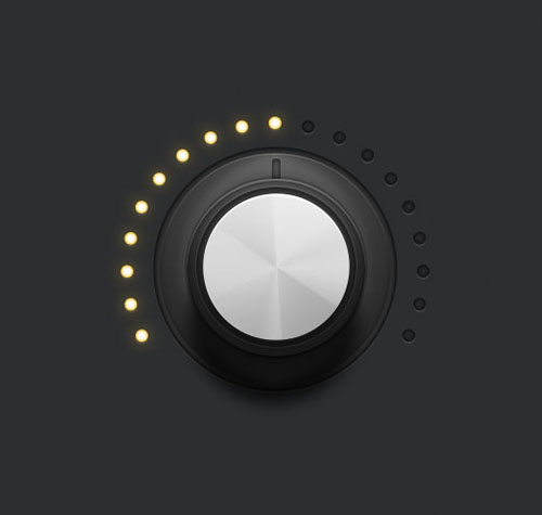 How to Create a Detailed Audio Rotary Knob Control in Illustrator
