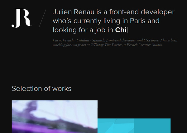 Julien Renau #CSS3 #website #design