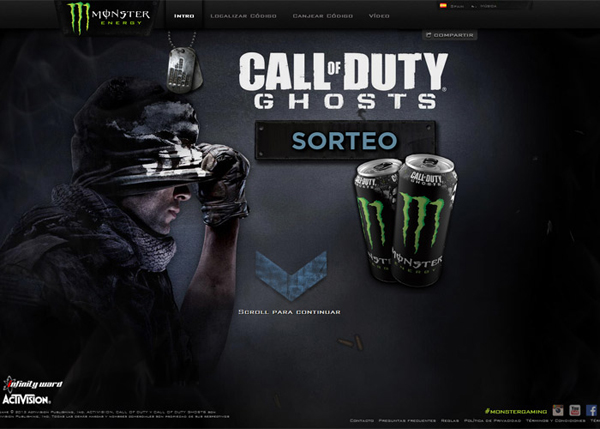 Monster Energy COD Ghosts #CSS3 #website #design