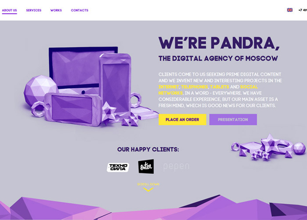 Pandra #CSS3 #website #design