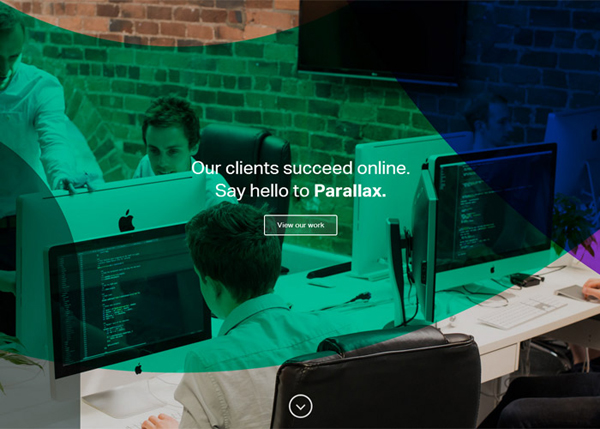 Parallax #CSS3 #website #design