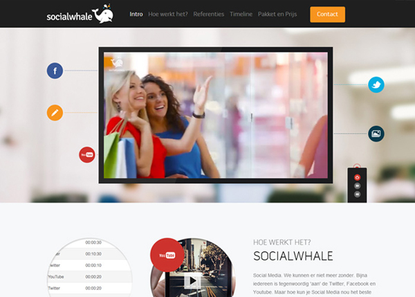 Socialwhale #CSS3 #website #design