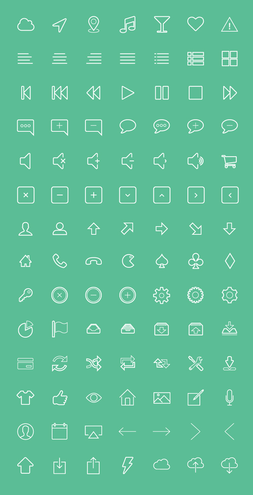 Free Vector Outline Icons (150+ Icons)