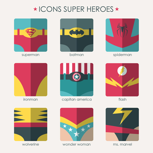 Super Heroes Icons (9 Icons)