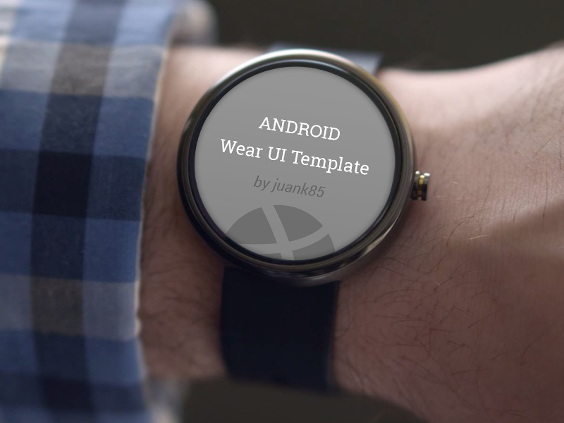Android Wear Template PSD