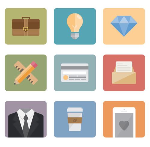 Free Flat Icon Set for Professionals