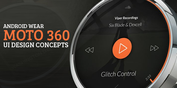 Best of 2014 - 40 Amazing Android Wear Moto 360 Watch UI Design Concept