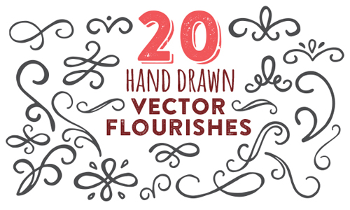 Free Hand Drawn Vector Flourishes