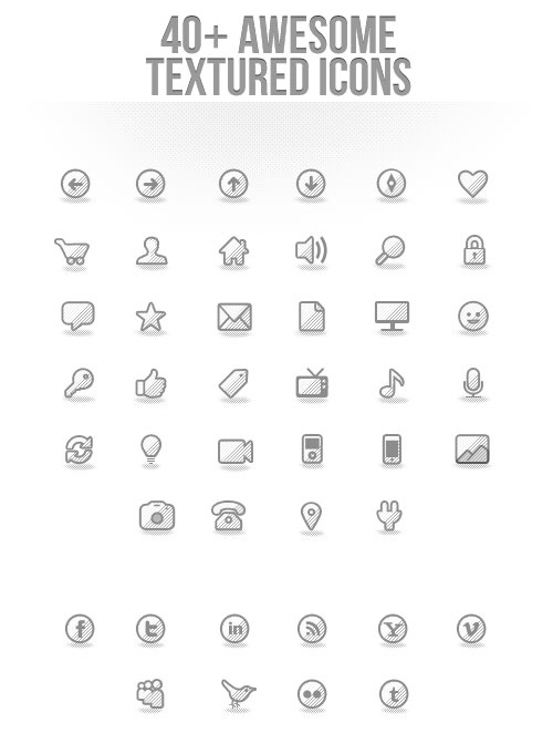 40+ Awesome Textured Icons