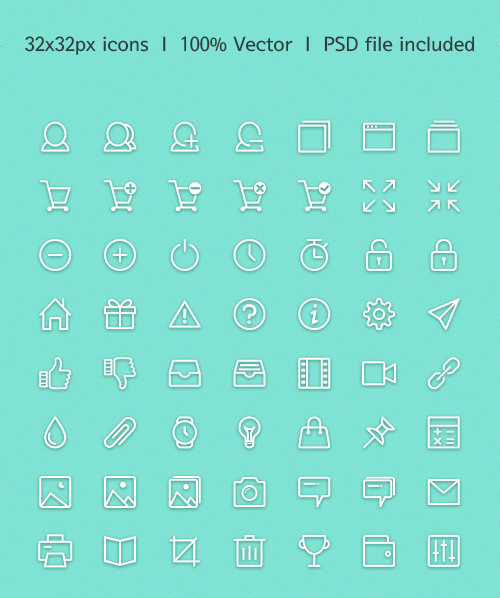 Simple Outlines icons