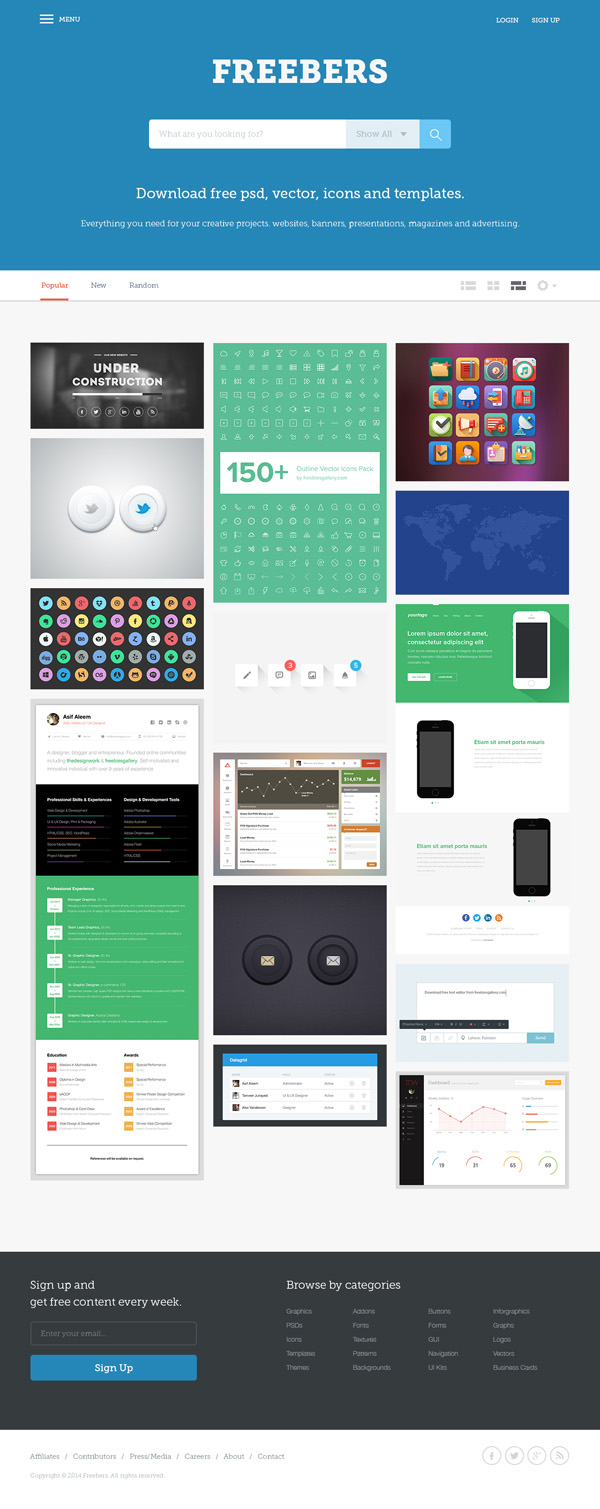 psd templates one page web templates bies graphic bers web template