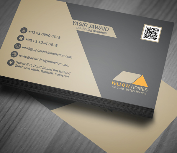 Free real estate business card template psd freebies for Business card presentation template psd