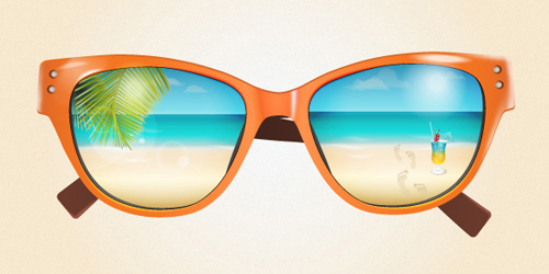 Create a Summer Sunglasses in Illustrator Tutorial