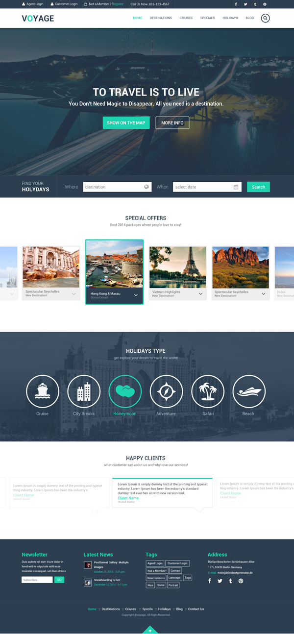 Travel - Free PSD Template