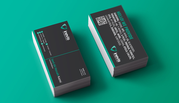 inevis GmbH Branding Business Card