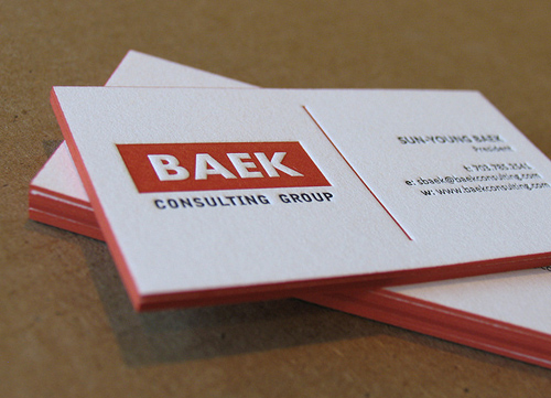 Letterpress Business Cards Design - 1