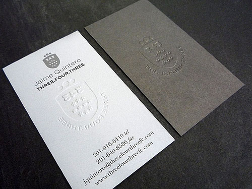 Letterpress Business Cards Design - 11