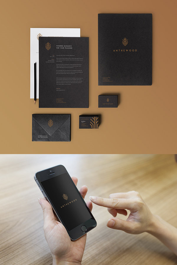 Anthewood Furniture Branding Stationery