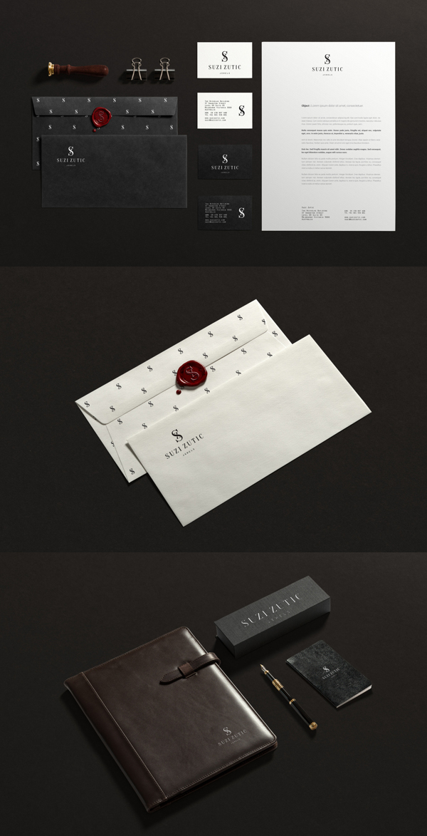 Suzi Zutic Branding Stationery