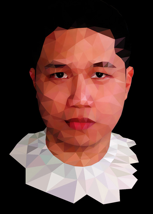 Low-Poly Portrait Illustrations for Inspiration - 16