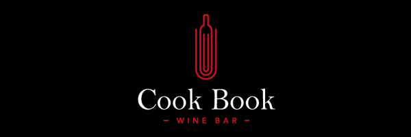 Cook Book Wine Bar Branding Logo
