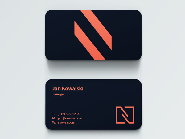 Nowea Trading Branding Business Card