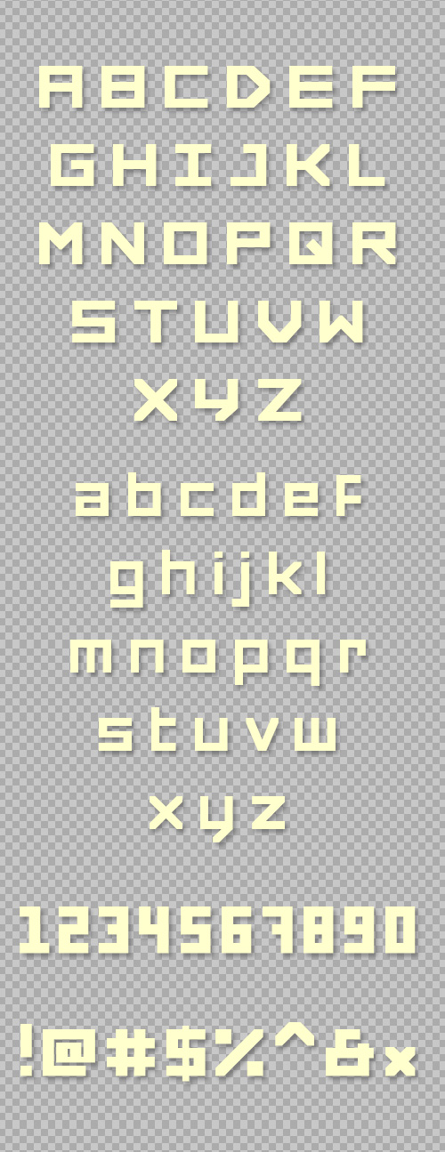 Forced Square Free Fonts 19