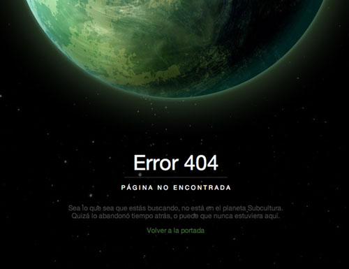 404 Page Designs – 32 Fresh Error Pages Examples - 26
