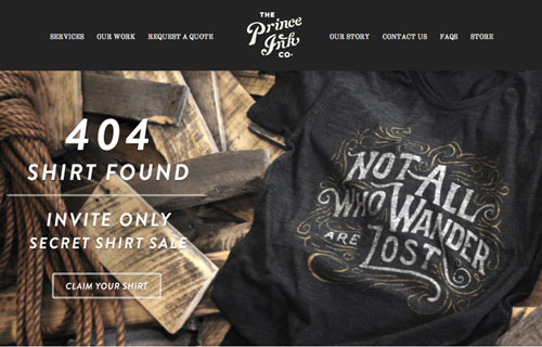 404 Page Designs – 32 Fresh Error Pages Examples - 27