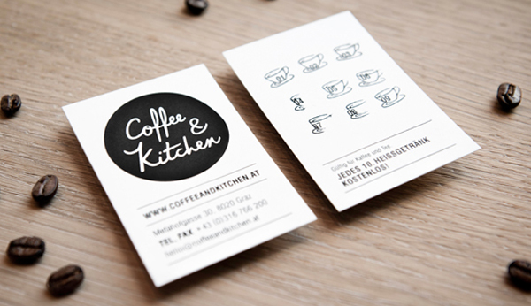 Coffee & Kitchen Branding Business Card