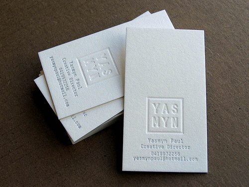 Letterpress Business Cards Design - 4