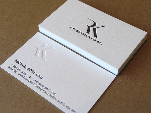 Letterpress Business Cards Design - 5