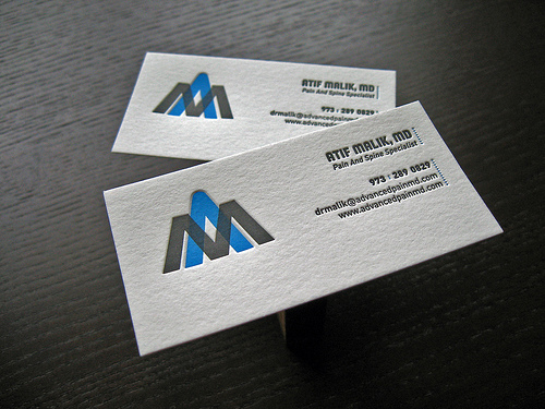 Letterpress Business Cards Design - 6