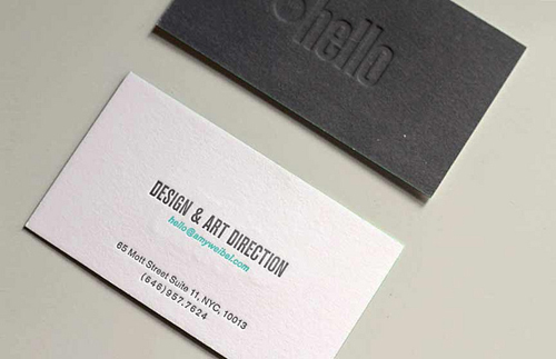 Letterpress Business Cards Design - 7