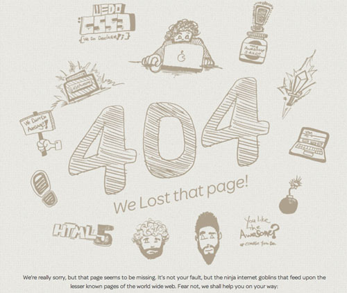 404 Page Designs – 32 Fresh Error Pages Examples - 9