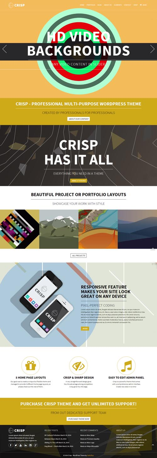 Crisp Multi-Purpose WordPress Theme