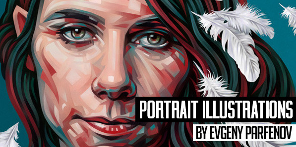 28 Amazing Portrait Illustrations by Evgeny Parfenov