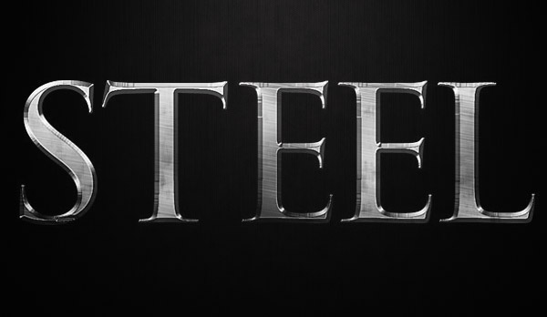 How to Create Steel Text Effect In Photoshop
