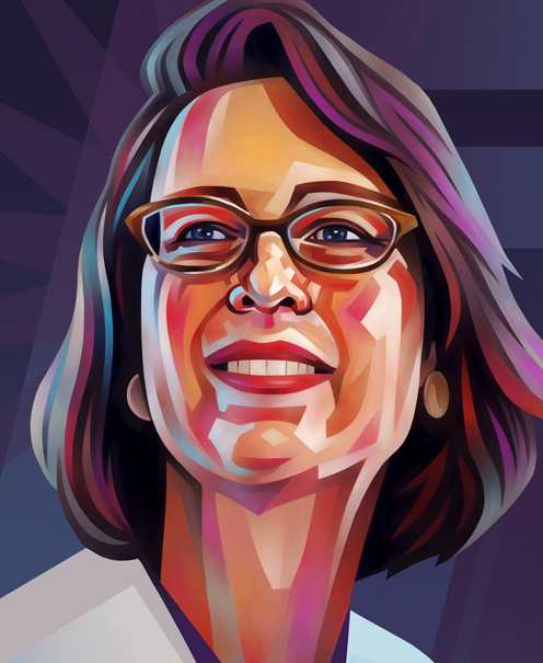 Abigail Johnson Portrait Illustration