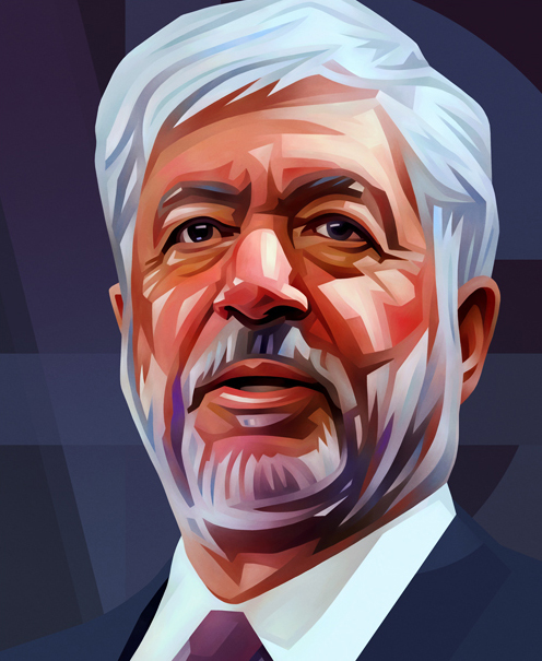 Robert Benmosche Portrait Illustration